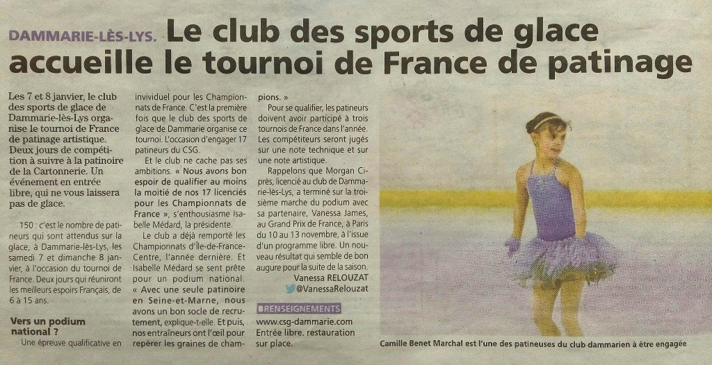 Le club des sports de glace accueille le tournoi de France de patinage
