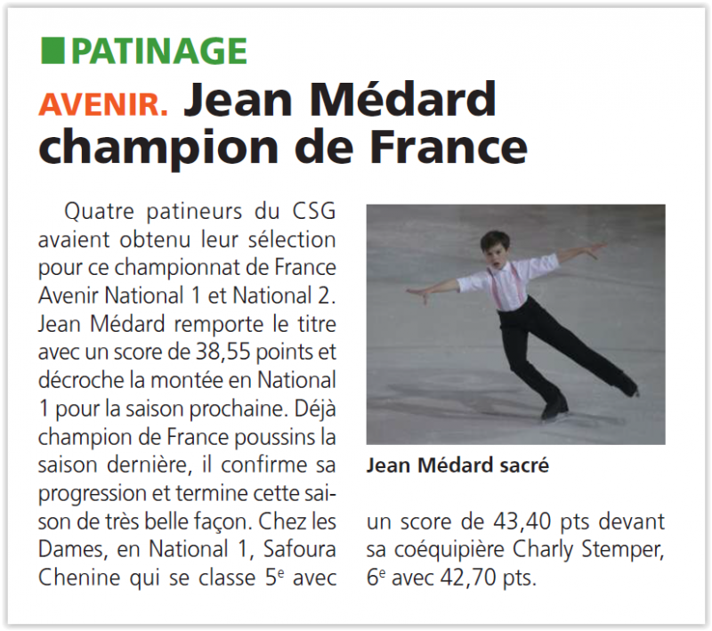 Jean Médard champion de France