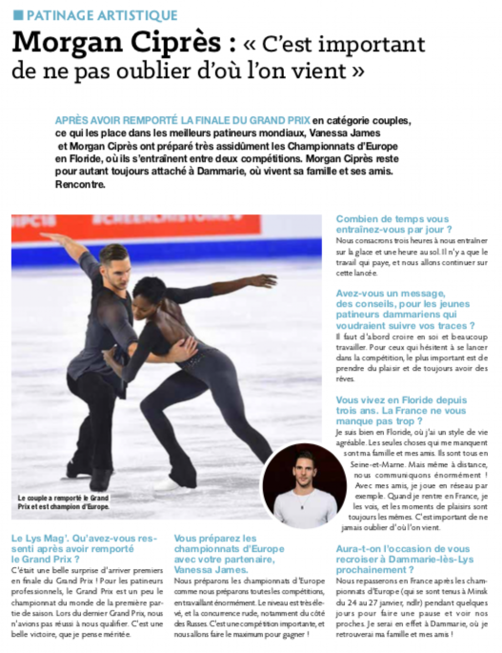 Lys Mag - Interview de Morgan au retour de la final des Grands Prix