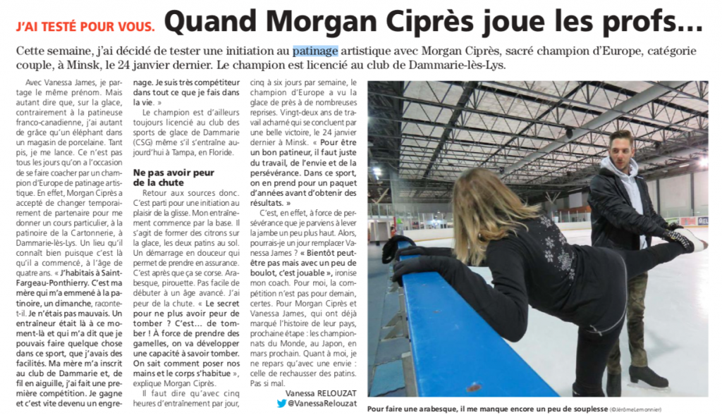 Décalé - Morgan initie une journaliste au patinage