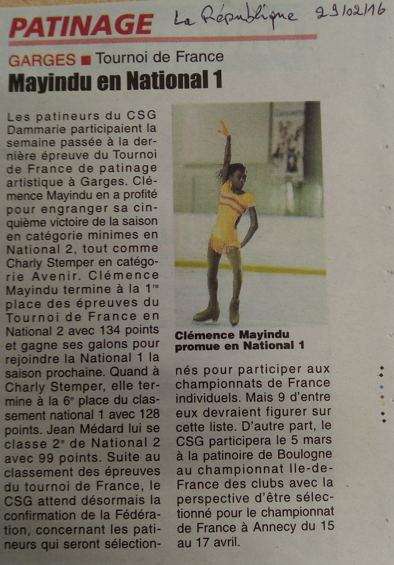Tournoi de France Garges - Mayindu en National 1