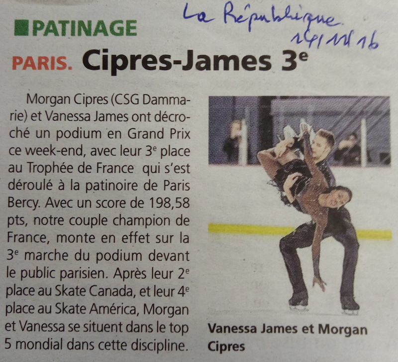 Trophée de France à Bercy - Cipres-James 3e