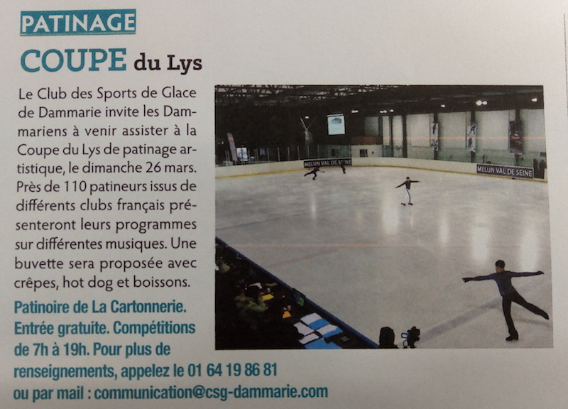 Patinage - Coupe du Lys 2017